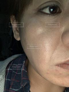 30代 顔のたるみの写真・画像素材[2021602]