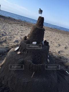 砂のお城の写真・画像素材[19901]