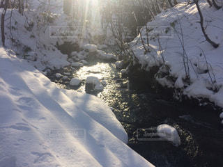 雪に覆われた斜面 - No.912175