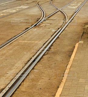 鋼のトラックの列車の写真・画像素材[1128995]