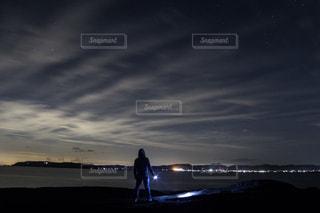 水の体に沈む夕日の写真・画像素材[786951]