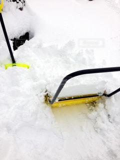 雪かきの写真・画像素材[1007086]