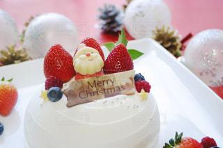 クリスマスケーキの写真・画像素材[1587257]