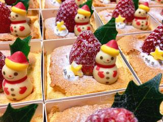小さなクリスマスケーキの写真・画像素材[1644704]