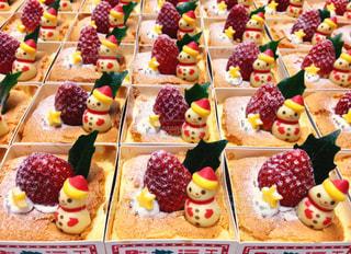 小さなクリスマスケーキの写真・画像素材[1644705]