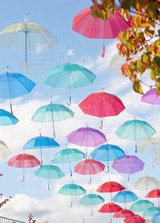 カラフルな傘の写真・画像素材[1644712]