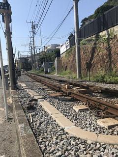 江の電線路の写真・画像素材[742369]