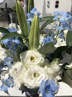 四十九日のお花の写真・画像素材[1160319]