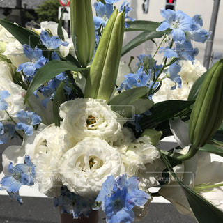 四十九日のお花の写真・画像素材[1160321]