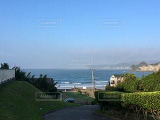 高台からの海の写真・画像素材[1402318]