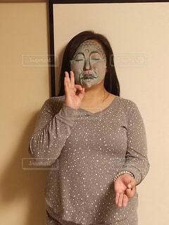 パック中の女性の写真・画像素材[2093549]