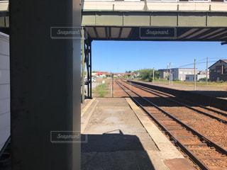 鋼のトラックの列車の写真・画像素材[761220]