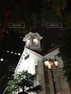 建物は夜ライトアップの写真・画像素材[761225]