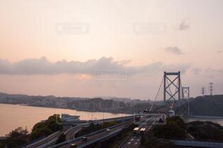 関門海峡の夕暮れの写真・画像素材[751134]