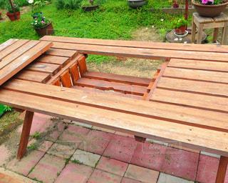 BBQテーブルの写真・画像素材[706899]