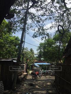 フィリピンの田舎路の写真・画像素材[2344007]