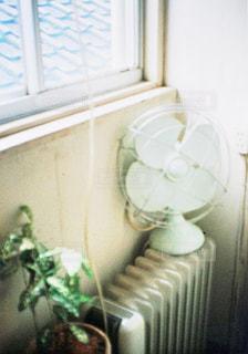 窓の前で花と花瓶の写真・画像素材[706520]