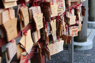 神社の絵馬の写真・画像素材[729836]