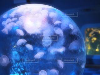 青いボールとガラスの写真・画像素材[711324]