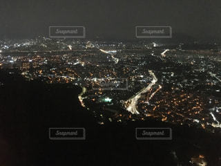 夜の街の景色の写真・画像素材[715004]