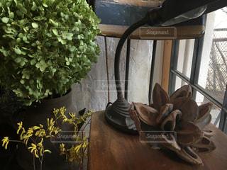 テーブルの上の花の花瓶の写真・画像素材[792003]