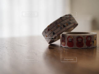 木製テーブルの写真・画像素材[864871]