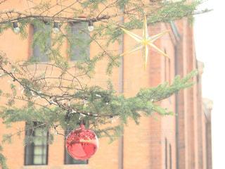 赤い傘のビルの写真・画像素材[933797]