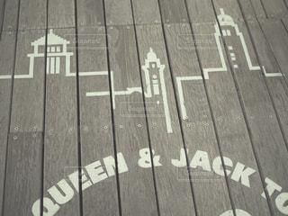 木製の表面上の標識の写真・画像素材[933811]