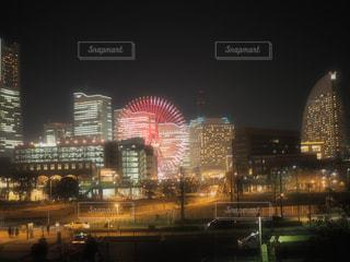 夜の街の景色の写真・画像素材[933862]