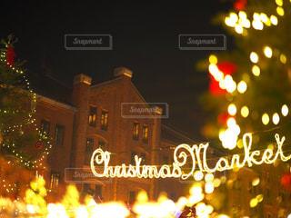 夜ライトアップ サインの写真・画像素材[933883]