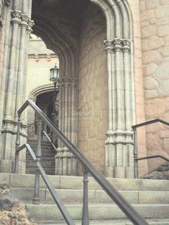 大規模な石造りの建物の写真・画像素材[1010987]
