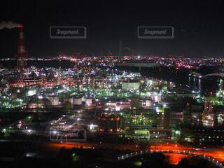 夜の街の景色の写真・画像素材[1051247]