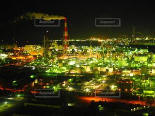 夜の街の景色の写真・画像素材[1051250]