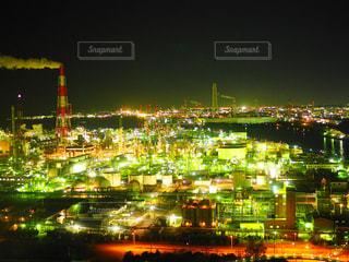 夜の街の景色の写真・画像素材[1051251]