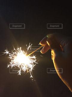 空に花火の写真・画像素材[709913]