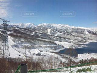 雪に覆われた山 - No.710546