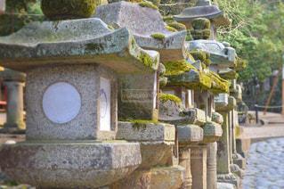 石造りの建物の像の写真・画像素材[820702]