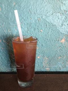 オレンジ ジュースのガラス - No.710836