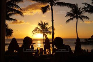 夕日の見えるレストランの写真・画像素材[981401]
