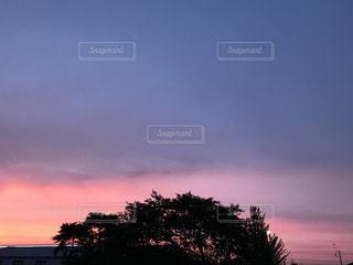 街に沈む夕日の写真・画像素材[713100]