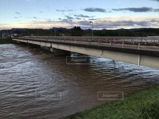 河川の増水の写真・画像素材[2657062]