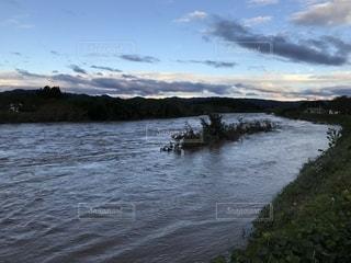 河川の増水の写真・画像素材[2657067]