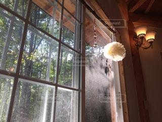 窓の前で花と花瓶 - No.726551