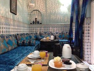 シャウエンを彷彿とさせるモロッコのリヤドです。の写真・画像素材[713525]