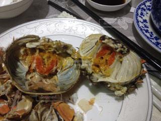 中国、上海蟹、濃厚蟹味噌の写真・画像素材[734387]