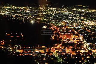 夜の街の景色の写真・画像素材[732281]