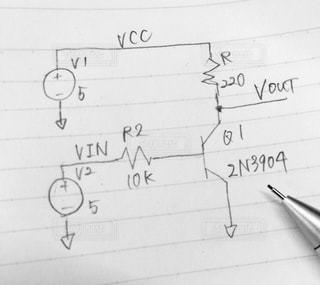 電子回路の手書きの写真・画像素材[756979]