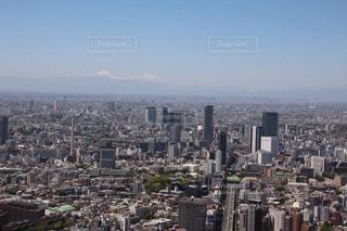 六本木ヒルズから富士山と東京の眺めの写真・画像素材[871581]