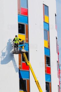 カラフルな建物の壁塗り - No.1072842