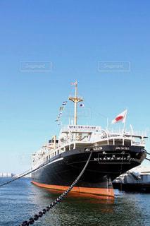 横浜港の氷川丸の写真・画像素材[1072843]